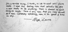 It's good to know this before it's too late.  <3