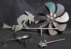 Windrad mit Windrichtungsanzeige aus Edelstahl, Windmühle | eBay