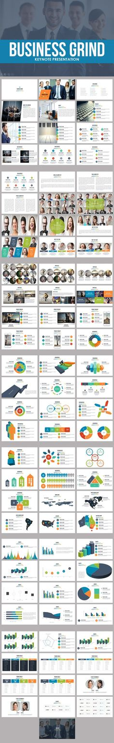 Business Grind Keynote Template. Business Infographic