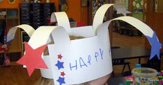 Pinterest's best ~  Easy Firework Sparkler hat for the Fourth of July Independence Day for Kids and 5 more fun ideas for a celebration parade :)