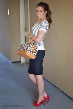 Sequins & Stilettos - leo and red heels