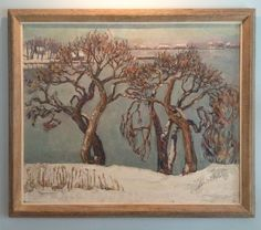 """Russell Cheney, """"Winter Trees""""."""