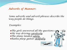 adverbs with images to share - Google Search