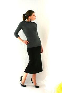 Cigarette Skirt in Bamboo  Made To Measure by Ureshii on Etsy, $88.00