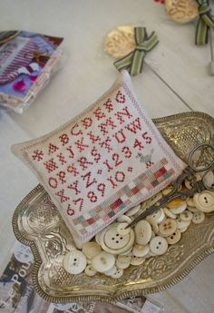 Julie not only frames her customers' stitched pieces, but is quite creative and talented for those who need different types of framing done.