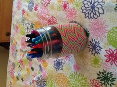 DIY Duct Tape Craft - I would have to line up the pattern on this one.