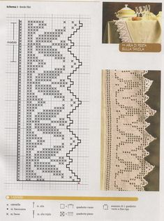 Filet Crochet Charts, Crochet Borders, Crochet Patterns, Easy Crochet, Crochet Lace, Fillet Crochet, Snowflake Pattern, Filets, Green Christmas