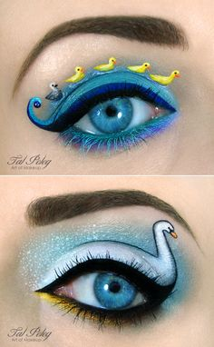 Creative Eye Makeup Illustrations by Tal Peleg | Rania's Random Corner....