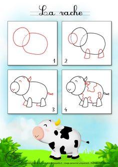 Dessin2_Comment dessiner une vache ?