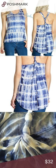 """*Clearance * Tie dye """"knotty"""" tank Super soft high low tie dye tank  95%rayon, 5%spandex. Made in the usa. Runs a tad small I reccommend ordering one size up. Discounts given on bundles. Salty Grace  Tops Tank Tops"""