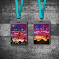 COACHELLA VIP PASS Invitation Tribal by MichelleRayeDesigns
