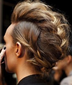 Braided Mohawk - great way to get the trendy look without chopping it all off.