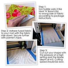 Different way to cut fabric with Cricut.