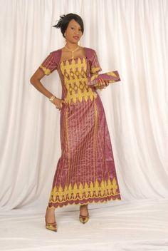 Look chic and beautiful in this African brocade ensemble. #Africanfashion #AfricanClothing #Africanprints #Ethnicprints #Africangirls #africanTradition #BeautifulAfricanGirls #AfricanStyle #AfricanBeads #Gele #Kente #Ankara #Nigerianfashion #Ghanaianfashion #Kenyanfashion #Burundifashion #senegalesefashion #Swahilifashion DK