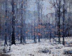 John Fabian Carlson, American Impressionist, Winter Woods, oil on canvas