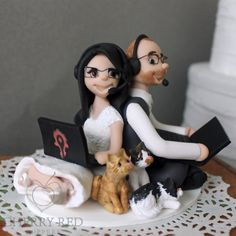 WOW wedding cake topper - Gaming Cake Topper  Gamer Headsets and Laptops