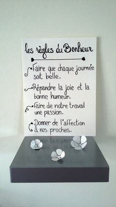 """Affiche citation """" les régles du bonheur """""""