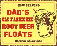 AmazonSmile: Dad's Root Beer Floats Vintage Metal Art Diner Retro Tin Ice Cream Soda Sign: Home & Kitchen