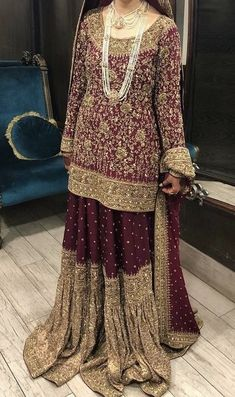 Short Kurta Garara Bridal Dress 2019 , Find Complete Details about Short Kurta Garara Bridal Dress & Pakistani Bridal Dresses Wedding Dress,Traditional Garara Dress from Plus Size Dress & Skirts Supplier or Manufacturer-ATIYALIBAS Shadi Dresses, Pakistani Formal Dresses, Pakistani Wedding Outfits, Indian Bridal Outfits, Pakistani Dress Design, Gharara Designs, Wedding Lehenga Designs, Wedding Lehnga, Stylish Dress Designs
