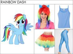 DIY Costume: How to Dress like Rainbow Dash