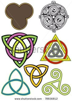 Illustration about Assortment of three fold symbols, including spiritual and religious emblems. Illustration of emblem, work, threefold - 19815316 Celtic Tattoo For Women, Tattoos For Women, Celtic Images, Mystic Symbols, I Tattoo, Tatting, Royalty Free Stock Photos, Spirituality, Ink