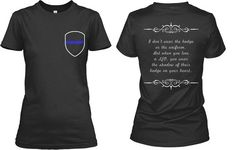 Law Enforcement, Cop, Police Officer, Thin Blue Line, LEO, Badge, Uniform, Wife, Family, Cute Shirt Saying Logo