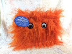 American Greetings ORANGE MONSTER Warm Fuzzies Gift Bag Fun Google Eyes  MEDIUM  6fd198ce27c50