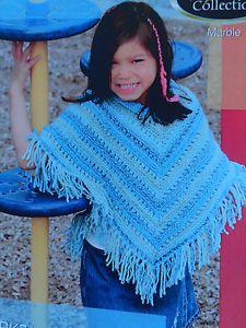 free child's poncho knitting pattern | Knitting Pattern SRK 71 Lady's