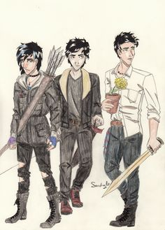 Big 3 Children by Sandra-13 on DeviantArt Percy Jackson and the Sword Hades story , three Sons God, magical flowers and Thief Locator  persefone