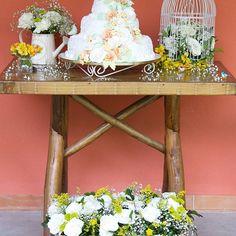 E se tem casório, é claro que tem que ter bolo! 🎂💐💏 Essa foi a mesa do bolo! Bem rústica e romântica, com toda a delicadeza e simplicidade de um casamento na grama (como era meu sonho).   [Mesa da varanda da minha mãe, caixote de alho que virou uma linda jardineira, gaiola e regador garimpados no Saara, pássaros e flores... E claro! O boooolo, feito também pela minha tia avó Ci, que fez o bolo de brigadeiro com maracujá (meu preferido) mais delicioso do mundo!]  #sucodenuvem #leveza…