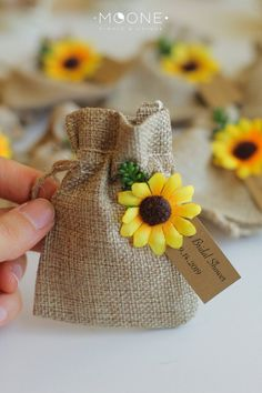 Set of 10 Personalized wedding gift for guests, Sunflower Wedding Gift, Burlap Favor Bags, Rustic Wedding Burlap Bags Favor, Sunflower Party Set of 10 Personalized wedding gift for guests Sunflower image 2 Wedding Gifts For Guests, Beach Wedding Favors, Wedding Favors For Guests, Personalized Wedding Favors, Wedding Favor Tags, Elegant Wedding Favors, Rustic Wedding, Wedding Burlap, Craft Wedding