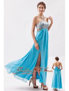 Aqua Empire Strapless Ankle-length Chiffon and Sequin Evening Dress- http://www.fashionos.com  creator evening dress | dreaming cotillion dresses | shop by color dama dress | discount high end club dresses | one of a kind dancing evening dress | free shipping homecoming dresses | how to find a perfect choir dress | eveing dresses that are different | amazing online evening dress | handmade plus size bridesmaid dress |