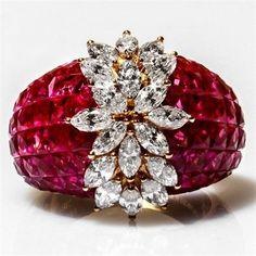 ༺♡༻ FABULOUS ༺♡༻ — Ruby and Diamond Ring
