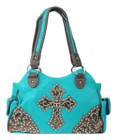 Look at this #zulilyfind! Blue Western Studded Handbag by Princess Purse #zulilyfinds