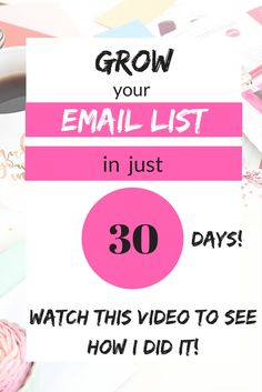 Learn how I started and grew my email list in 30 days with this amazing 30 day challenge. If you need to learn how to create a freebie, landing page, welcome email series, how to use email to monetise your blog and tons more, check out this challenge. Click through to see my video testimonial. Or use this link to go straight to the course details; http://edenfried.teachable.com/p/list-building-challenge-group/?affcode=112068_rpacg3wy #affiliate