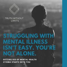 """Hearing stay positive or exercise more isn't what people who are struggling need to hear. They need to hear """"you aren't alone"""" Mental Health America, Mental Health Stigma, Mental Health Support, Feeling Hopeless, Feeling Alone, Signs Of Mental Illness, Rejected Quotes, Trusting People, Understanding People"""