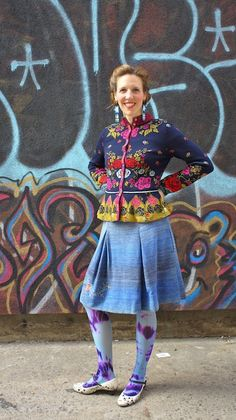 Ivko sweater and We love colors tights