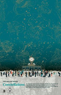 Constellations, Commemorative Poster for the 100th Anniversary of Grand Central Terminal