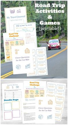 Keep kids & tweens busy with these printable car games for your next road trip! Road Trip With Kids, Family Road Trips, Family Vacations, Travel With Kids, Road Trip Checklist, Road Trip Planner, Travel Planner, Printable Activities For Kids, Kids Learning Activities