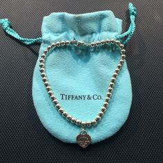 Tiffany & Co. Heart Tag Beaded Sterling Bracelet Super cute, delicate bracelet! Authentic ✨ Small heart with small beads Return to Tiffany heart! Comes with Tiffany and Co. Bag! Tiffany & Co. Jewelry Bracelets