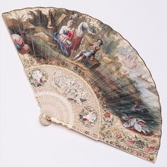 eMuseum Century women's fashion, fans became a huge accessory during this time. This is an English ivory fan. Mostly used for looks, these highly decorated items became a huge hit. Found at the Phoenix Art Museum. Antique Fans, Vintage Fans, Vintage Items, Hand Held Fan, Hand Fans, Phoenix Art Museum, 18th Century Fashion, Decoupage, Chinoiserie