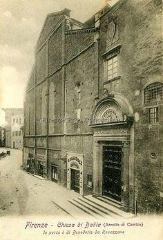 Badia Fiorentina su via del Proconsolo nel 1900 poco più, sullo sfondo Piazza San Firenze.#ConosciFirenze.