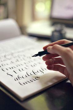 I'm taking Molly Jacques' calligraphy crash course on Skillshare! Is anyone else?