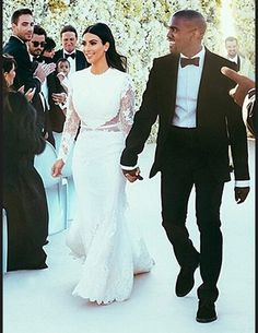 La robe chic de Kim Kardashian mariage