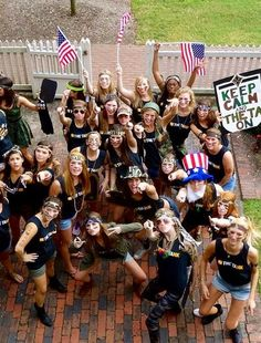 Kappa Alpha Theta army themed bid day - The College of William & Mary, Williamsburg VA