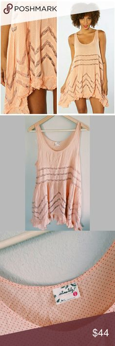 Free People Trapeze Slip - M Flirty, fun free people trapeze slip :) perfect for the summer, lightly worn Free People Dresses Mini