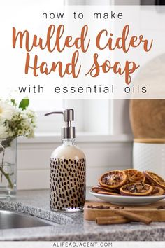 This natural homemade liquid hand soap will bring the warm invigorating smell of Mulled Cider into any room of your home. Clean your hands with a sweet & spicy blend of orange, clove, and cinnamon essential oils. Cinnamon Essential Oil, Essential Oils Soap, Essential Oil Uses, Natural Beauty Recipes, Liquid Hand Soap, Homemade Soap Recipes, Natural Cleaning Products, Home Made Soap, Homemade Beauty