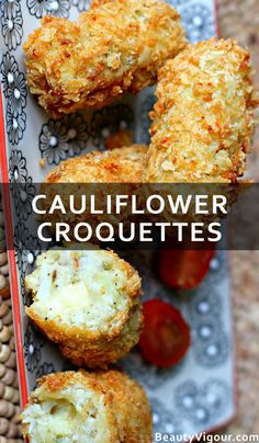 A way to accommodate the cauliflower that changes the traditional gratin is cauliflower croquettes. Read on to know how to prepare cauliflower croquettes. How To Prepare Cauliflower, Good Food, Yummy Food, Food Tasting, Appetizer Dips, Cauliflower Recipes, Delish, Plate