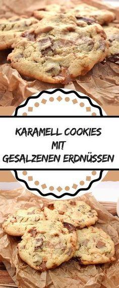 Diese Karamell Cookies mit gesalzenen Erdnüssen sind der perfekte Kontrast zwischen süß und salzig. Außerdem würden sie glatt als Snickers Kekse durchgehen.