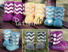 Chevron Toddler Boots Crochet Pattern